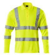 18283-995-17 Poloshirt, langærmet - hi-vis gul