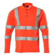 18283-995-222 Poloshirt, langærmet - hi-vis rød
