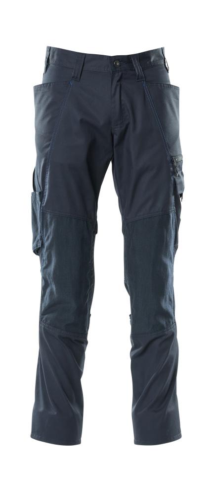 18379-230-010 Bukser med knælommer - mørk marine