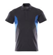 18383-961-01091 Poloshirt - mørk marine/azurblå