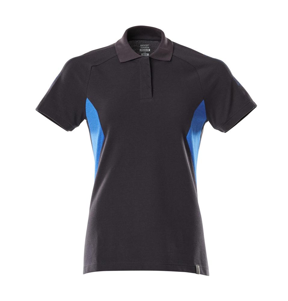 18393-961-01091 Poloshirt - mørk marine/azurblå