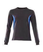 18394-962-01091 Sweatshirt - mørk marine/azurblå