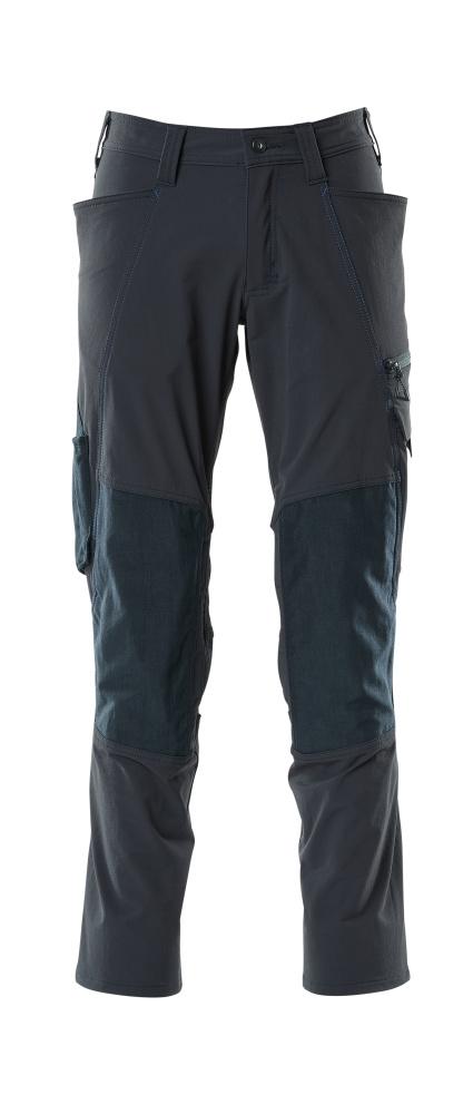 18479-311-010 Bukser med knælommer - mørk marine