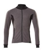 18484-962-01091 Sweatshirt med lynlås - mørk marine/azurblå
