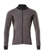 18484-962-1809 Sweatshirt med lynlås - mørk antracit/sort