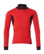 18484-962-20209 Sweatshirt med lynlås - signalrød/sort