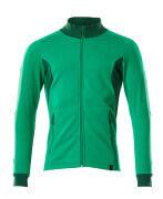 18484-962-33303 Sweatshirt med lynlås - græsgrøn/grøn