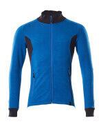 18484-962-91010 Sweatshirt med lynlås - azurblå/mørk marine