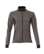 18494-962-1809 Sweatshirt med lynlås - mørk antracit/sort