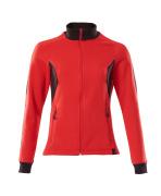 18494-962-20209 Sweatshirt med lynlås - signalrød/sort