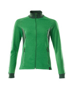 18494-962-33303 Sweatshirt med lynlås - græsgrøn/grøn