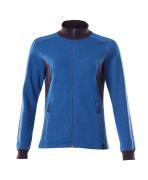 18494-962-01091 Sweatshirt med lynlås - mørk marine/azurblå