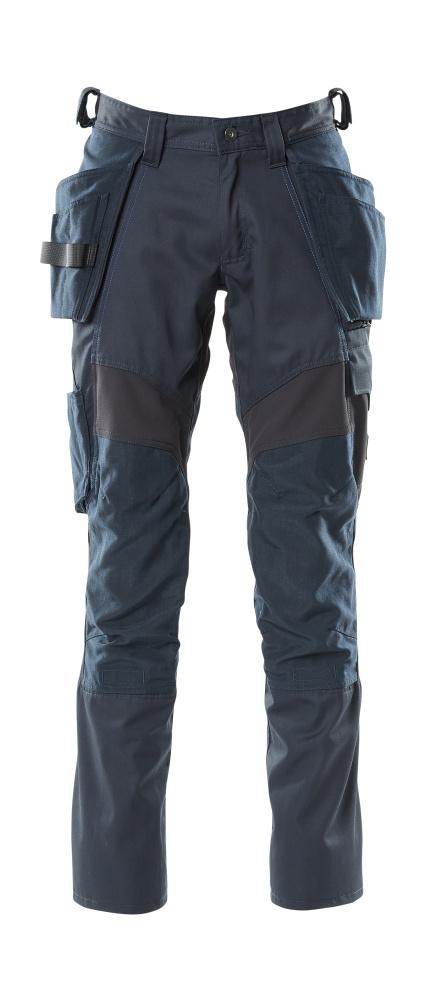 18531-442-010 Bukser med knæ- og hængelommer - mørk marine