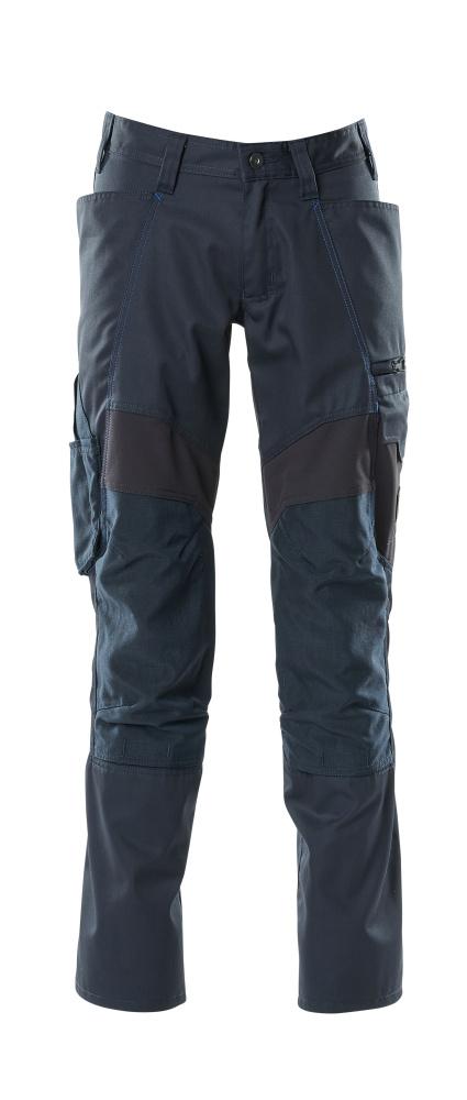 18579-442-010 Bukser med knælommer - mørk marine