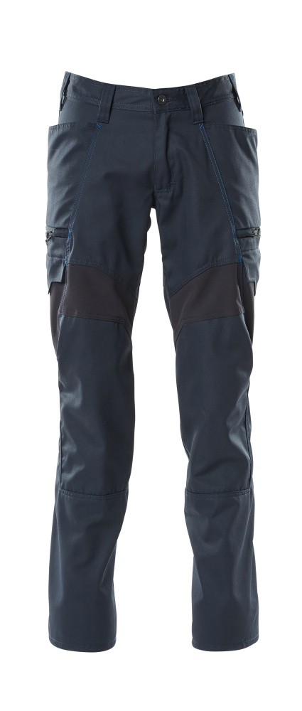 18679-442-010 Bukser med lårlommer - mørk marine