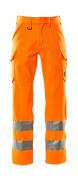 18879-860-14 Bukser med lårlommer - hi-vis orange