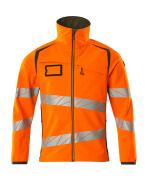 19002-143-1433 Softshell jakke - hi-vis orange/mosgrøn