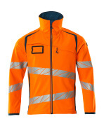 19002-143-1444 Softshell jakke - hi-vis orange/mørk petroleum