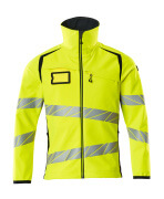 19002-143-14010 Softshell jakke - hi-vis orange/mørk marine