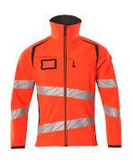 19002-143-22218 Softshell jakke - hi-vis rød/mørk antracit