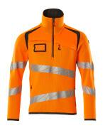 19005-351-1418 Striktrøje med kort lynlås - hi-vis orange/mørk antracit