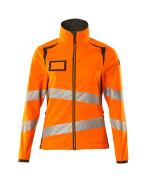 19012-143-1418 Softshell jakke - hi-vis orange/mørk antracit