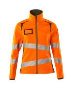 19012-143-1433 Softshell jakke - hi-vis orange/mosgrøn
