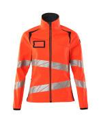 19012-143-22210 Softshell jakke - hi-vis rød/mørk marine