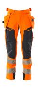 19031-711-14010 Bukser med hængelommer - hi-vis orange/mørk marine
