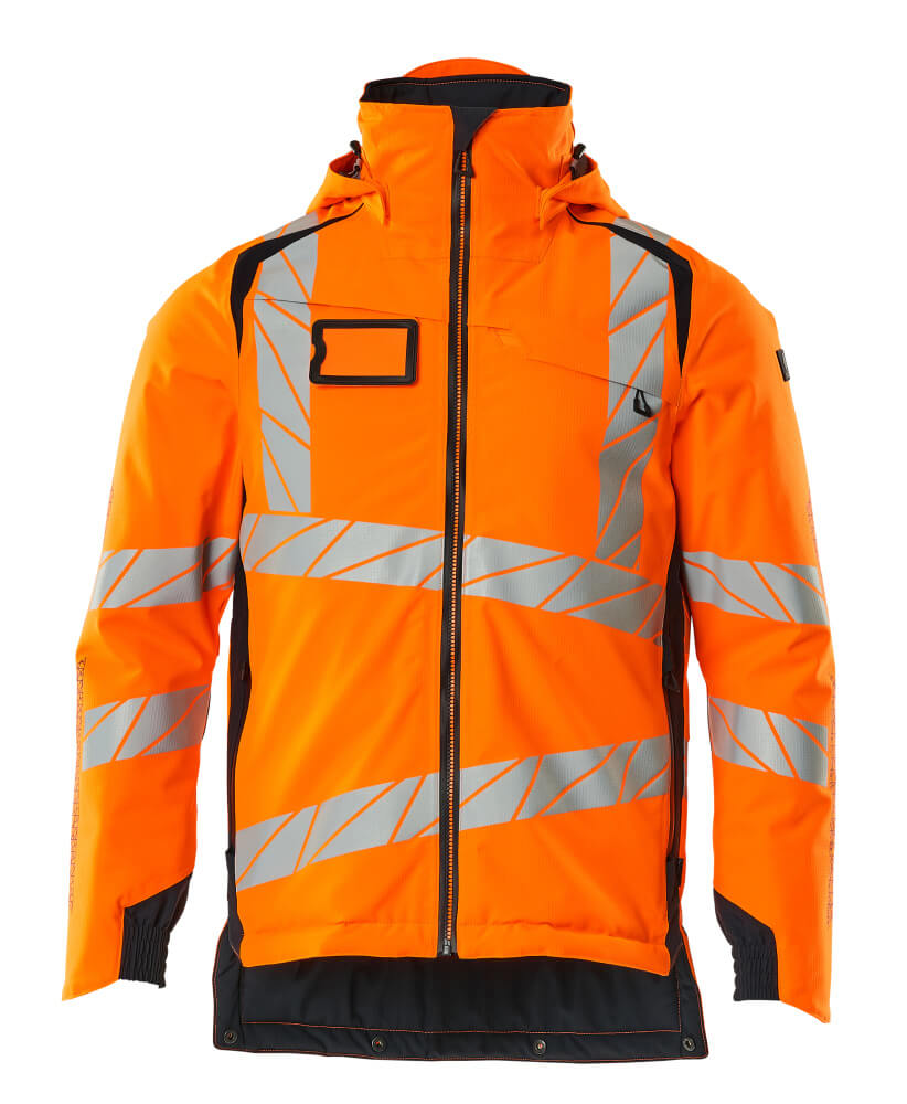 19035-449-14010 Vinterjakke - hi-vis orange/mørk marine