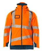 19035-449-1444 Vinterjakke - hi-vis orange/mørk petroleum