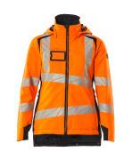 19045-449-14010 Vinterjakke - hi-vis orange/mørk marine