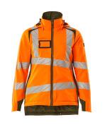 19045-449-1433 Vinterjakke - hi-vis orange/mosgrøn