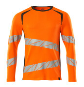 19081-771-1418 T-shirt, langærmet - hi-vis orange/mørk antracit