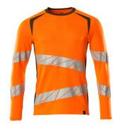 19081-771-1433 T-shirt, langærmet - hi-vis orange/mosgrøn