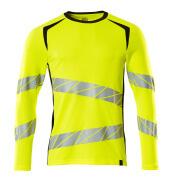 19081-771-1709 T-shirt, langærmet - hi-vis gul/sort