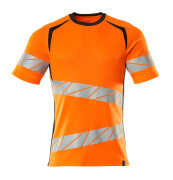 19082-771-14010 T-shirt - hi-vis orange/mørk marine