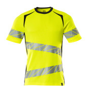 19082-771-14010 T-shirt - hi-vis orange/mørk marine