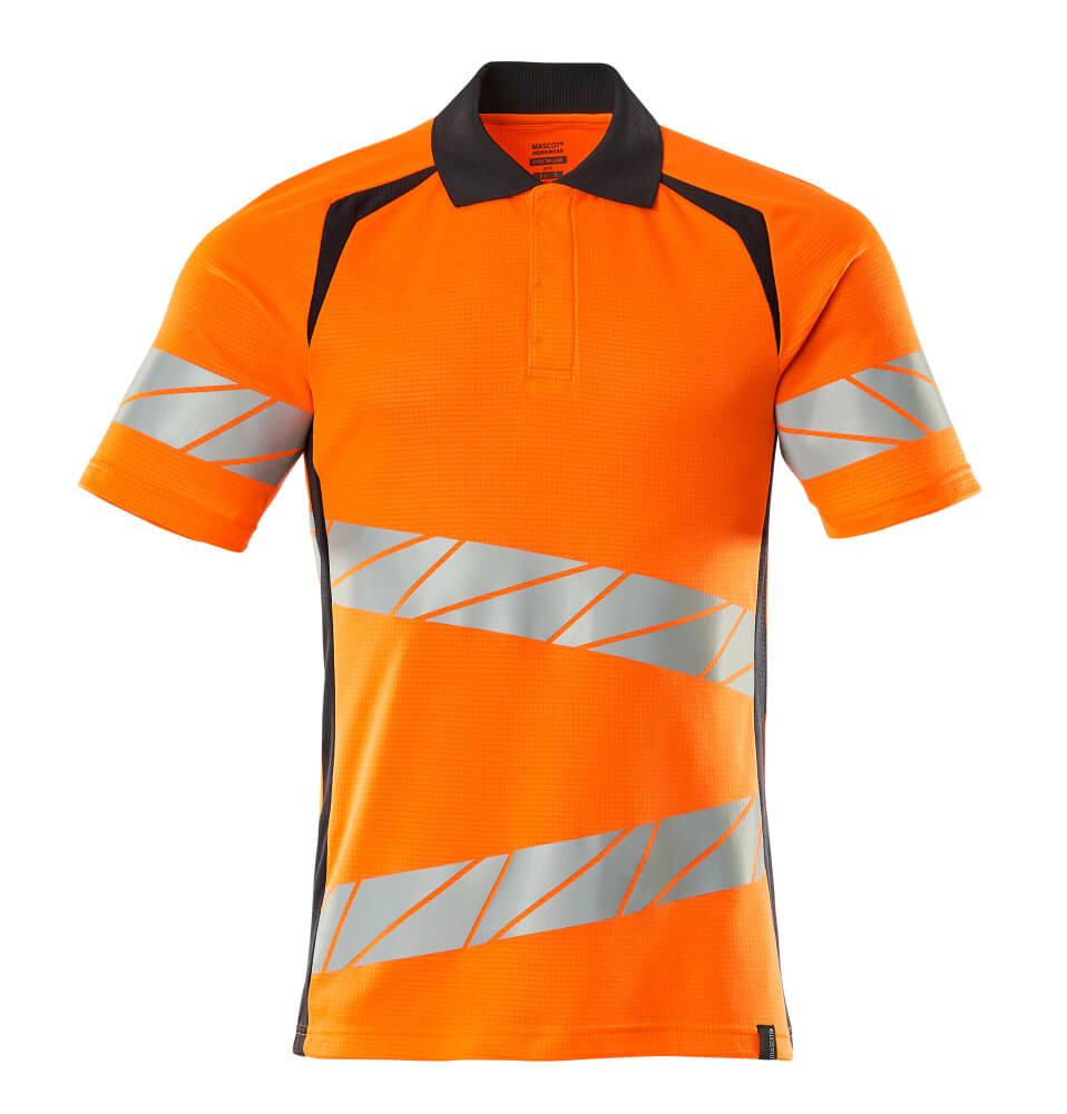 19083-771-14010 Poloshirt - hi-vis orange/mørk marine
