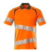 19083-771-1433 Poloshirt - hi-vis orange/mosgrøn