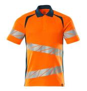 19083-771-1444 Poloshirt - hi-vis orange/mørk petroleum