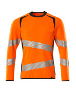 19084-781-14010 Sweatshirt - hi-vis orange/mørk marine