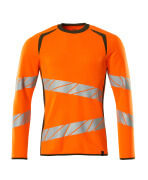 19084-781-1433 Sweatshirt - hi-vis orange/mosgrøn