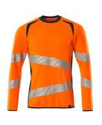 19084-781-1444 Sweatshirt - hi-vis orange/mørk petroleum