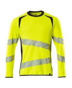 19084-781-17010 Sweatshirt - hi-vis gul/mørk marine