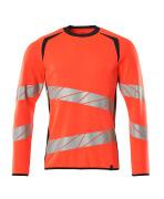 19084-781-22210 Sweatshirt - hi-vis rød/mørk marine