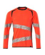 19084-781-22218 Sweatshirt - hi-vis rød/mørk antracit