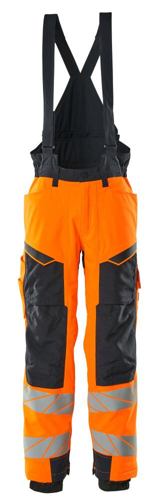 19090-449-14010 Vinterbukser - hi-vis orange/mørk marine