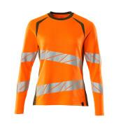 19091-771-1433 T-shirt, langærmet - hi-vis orange/mosgrøn