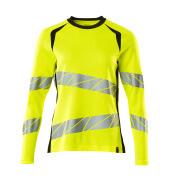 19091-771-1709 T-shirt, langærmet - hi-vis gul/sort